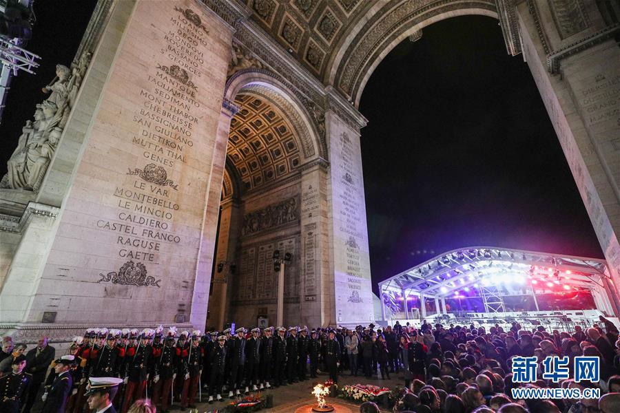 (国际)(1)法国举行仪式悼念参与一战的亚洲人