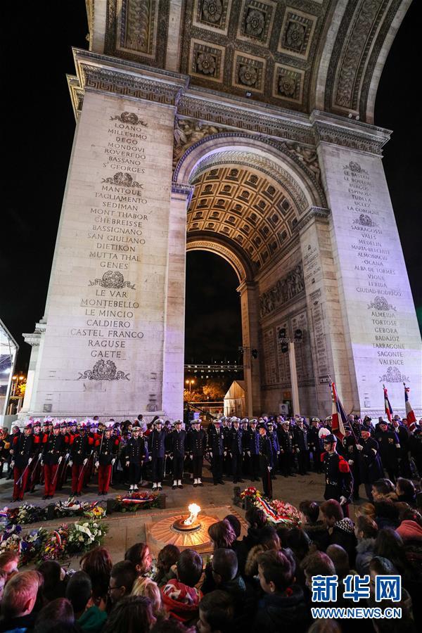 (国际)(2)法国举行仪式悼念参与一战的亚洲人
