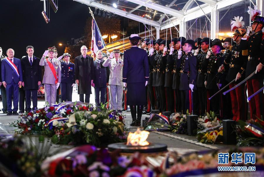 (国际)(3)法国举行仪式悼念参与一战的亚洲人