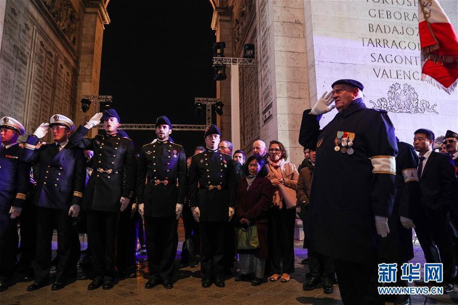 (国际)(5)法国举行仪式悼念参与一战的亚洲人