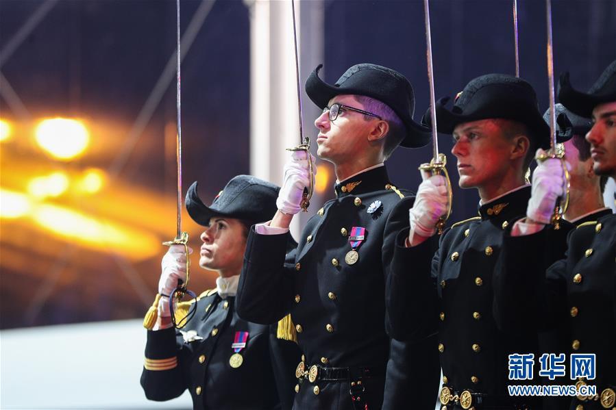 (国际)(4)法国举行仪式悼念参与一战的亚洲人
