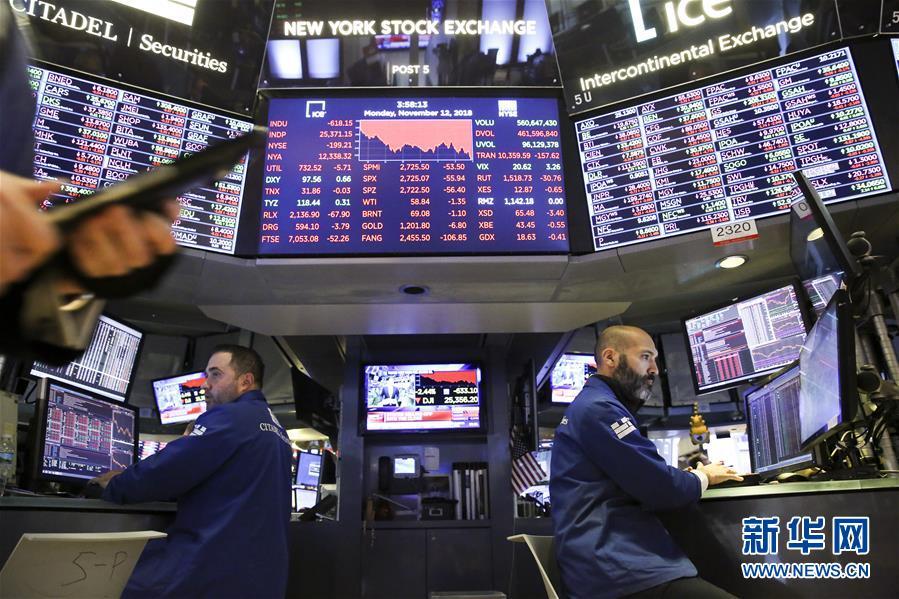 (国际)(1)纽约股市三大股指12日下跌