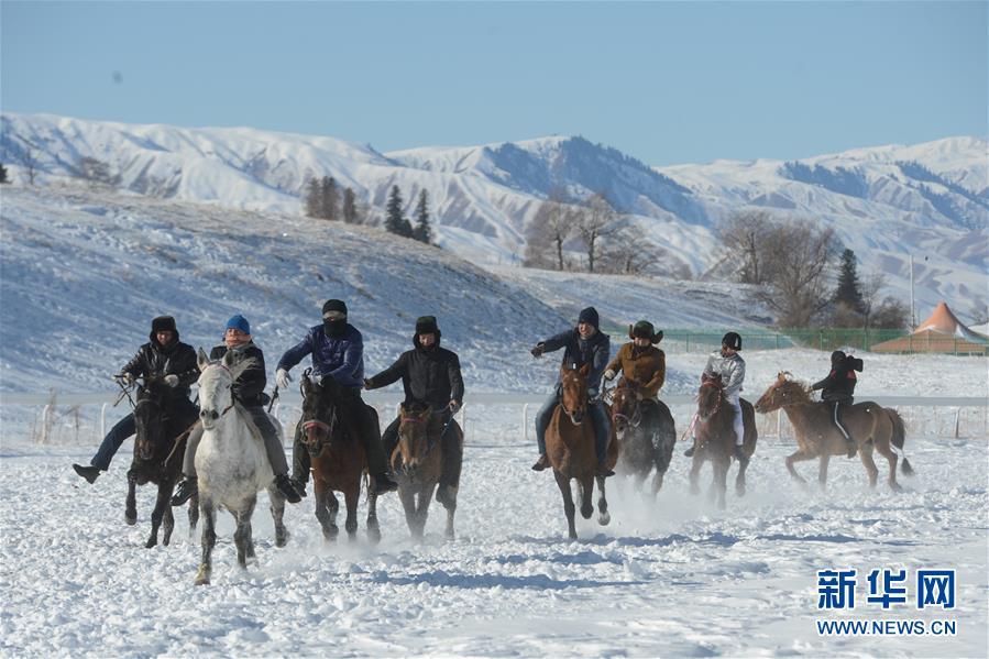 (社会)(1)新疆那拉提冰雪旅游文化节开幕