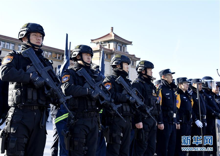 (社会)(2)北京铁路公安系统举行春运安保演习
