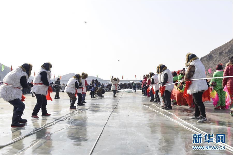 #(社会)(5)查干湖冬捕技艺在呼和浩特上演