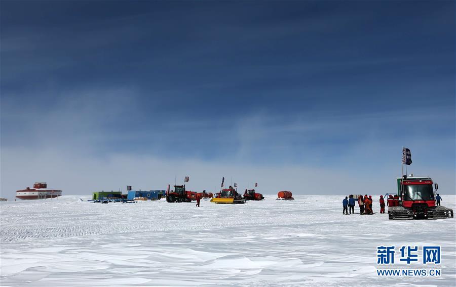 """(第35次南极科考·图文互动)(3)中国南极科考队两支内陆小分队顺利""""会师"""""""