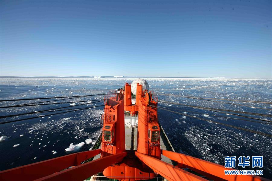 (第35次南极科考·图文互动)(1)特写:南极西冰架的冰山与动物世界