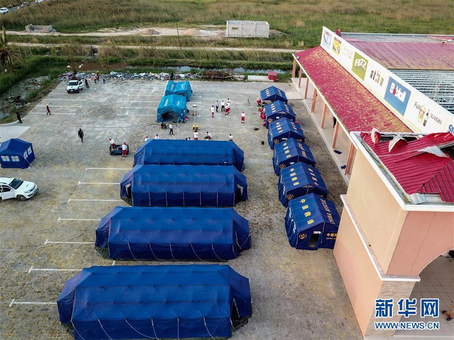 (国际)(1)中国救援队在莫桑比克展开医疗救助行动