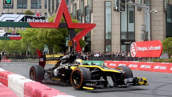 F1赛车开上上海街头,刘翔都来了