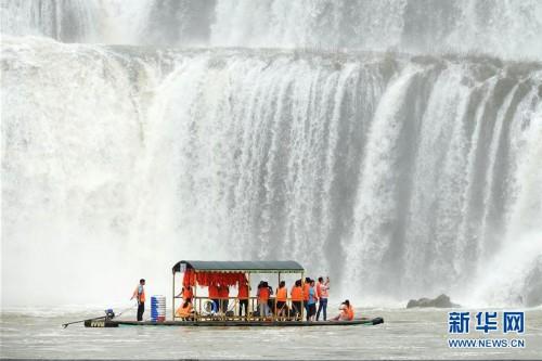 #(环境)(1)广西崇左:德天瀑布进入最佳观赏期