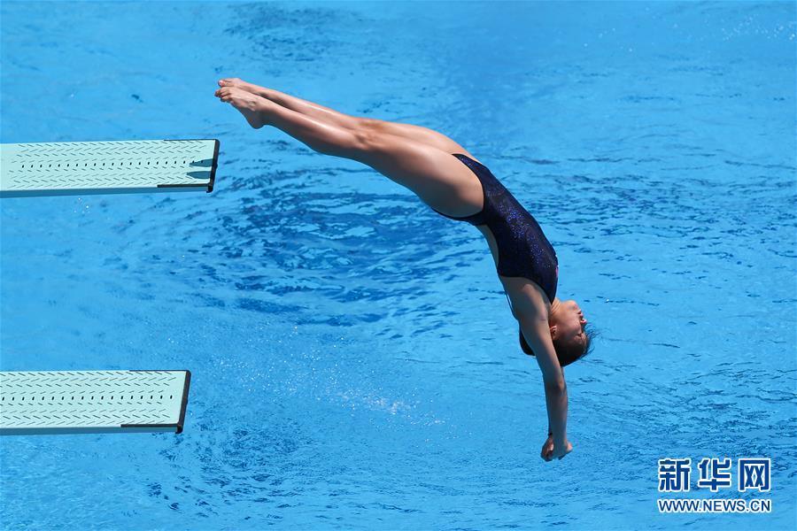 (大运会)(1)跳水——女子1米板决赛:中国选手包揽金银牌