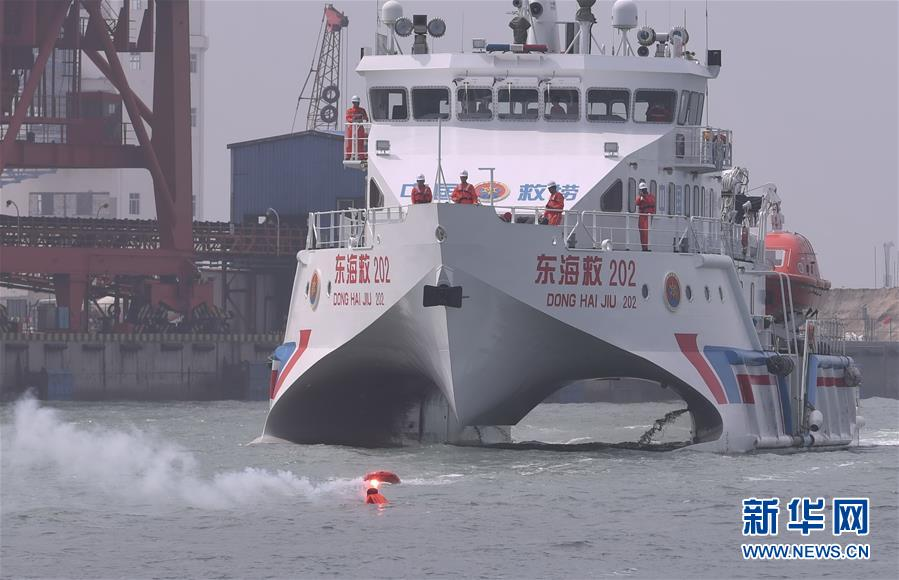 (社会)(1)福建漳州举行海上搜救与溢油应急综合演习