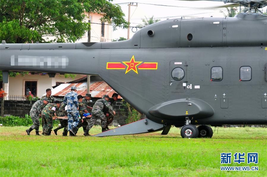 (国际·图文互动)(1)陆军国产新型加改装救护直升机首次走出国门参加卫勤联演
