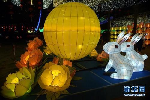 (文化)(2)香港举办中秋彩灯会