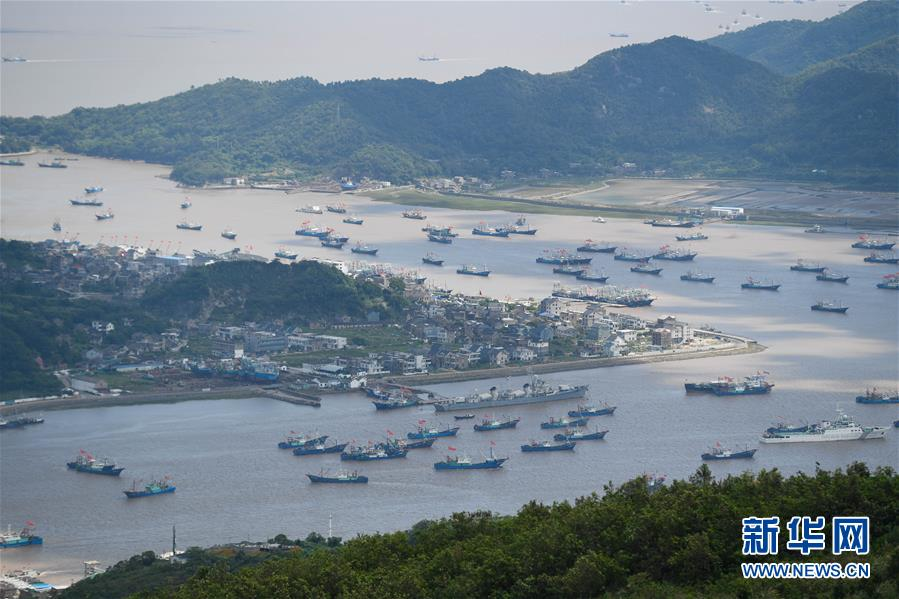 (社会)(1)东海伏季休渔结束 浙江象山千艘渔船整装出海