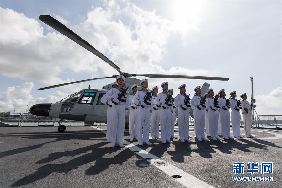 (国际)(1)中国海军第33批护航编队潍坊舰技术停靠肯尼亚蒙巴萨港