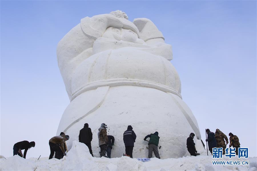 (社会)(2)哈尔滨:2020个雪人迎接2020年