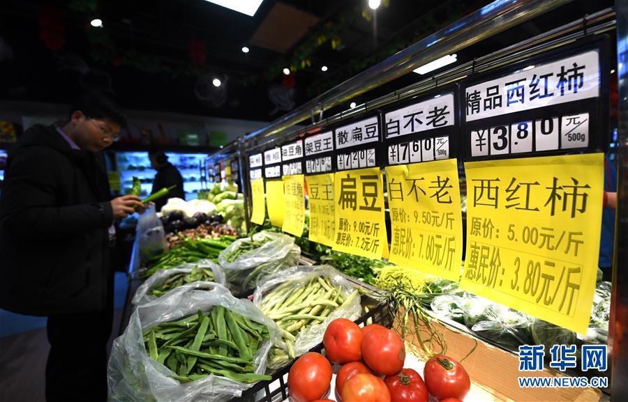 (社会)(2)河北廊坊:惠民肉菜投放保障春节供给