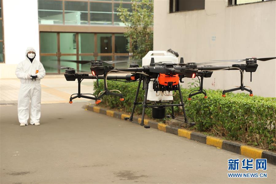 (聚焦疫情防控)(1)深圳:无人机助力工业园空中消杀