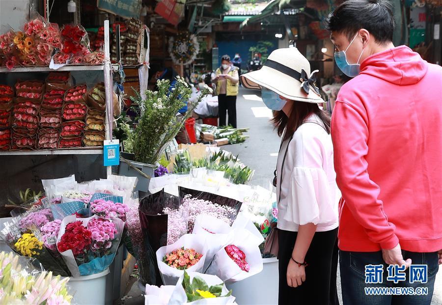#(社会)(1)武汉:花卉市场人气渐旺