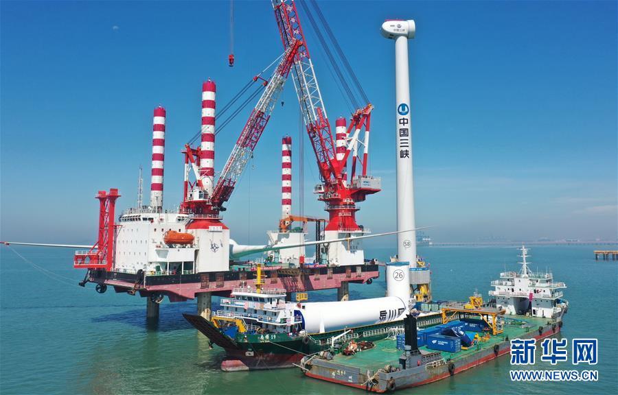 (经济)(4)国内首台10兆瓦海上风电机组成功并网发电