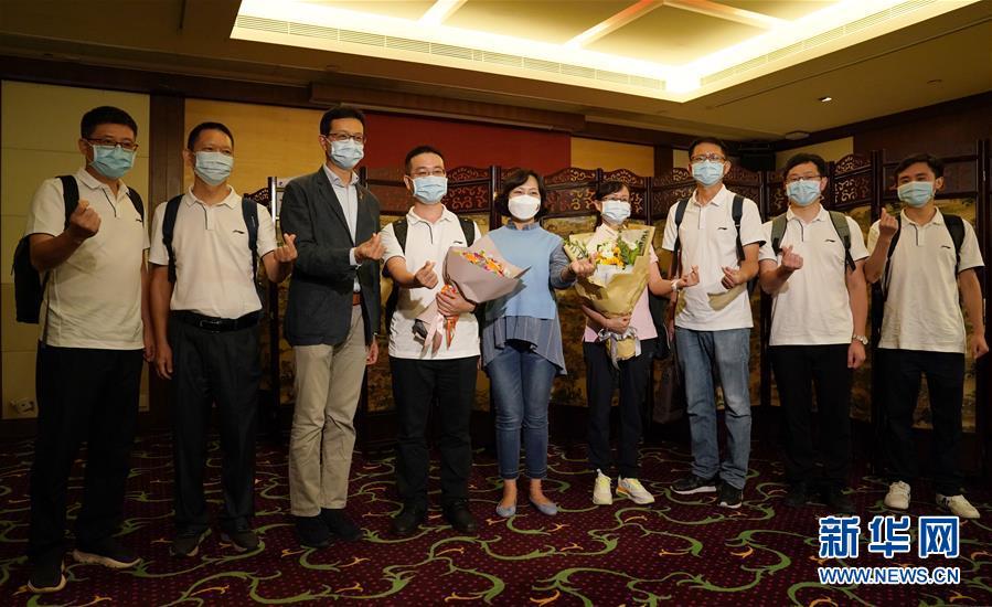 (港澳台·香港故事·图文互动)(2)为了750万人的生命健康——内地支援香港核酸检测图景扫描