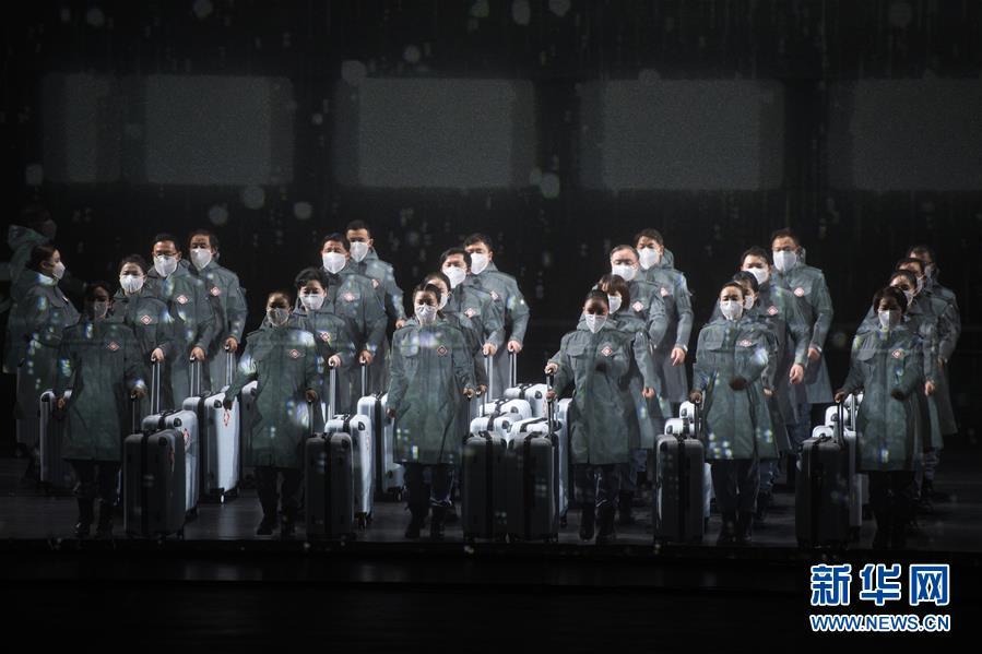 (文化)(1)抗疫题材民族歌剧《天使日记》在武汉首演