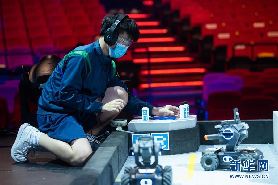 """(社会)(1)澳门举办""""RoboMaster 2020澳门青少年机械人大赛"""""""