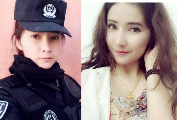 新疆维族美女特警生活照走红 中青在线