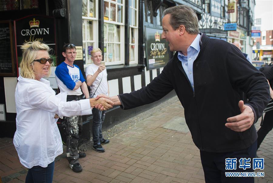 (国际)(1)英国前首相卡梅伦为大选拉票