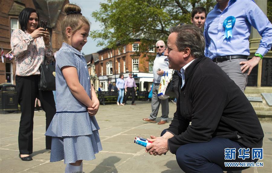 (国际)(2)英国前首相卡梅伦为大选拉票