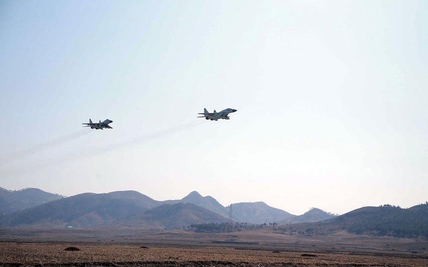 朝鲜战机大规模战训 米格29米格23出击