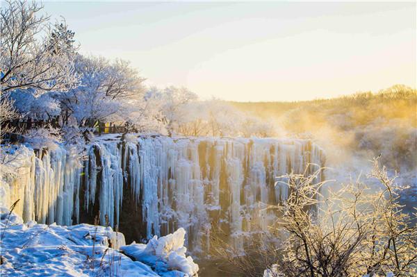 牡丹江镜泊湖进京推广冬季旅游产品