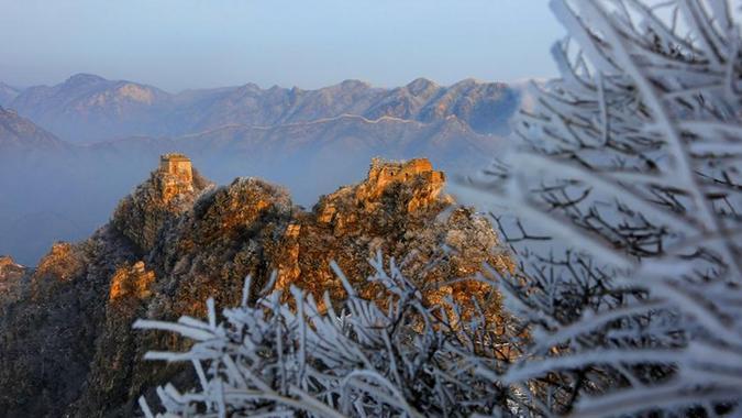 #(环境)(2)雪后箭扣长城美如画