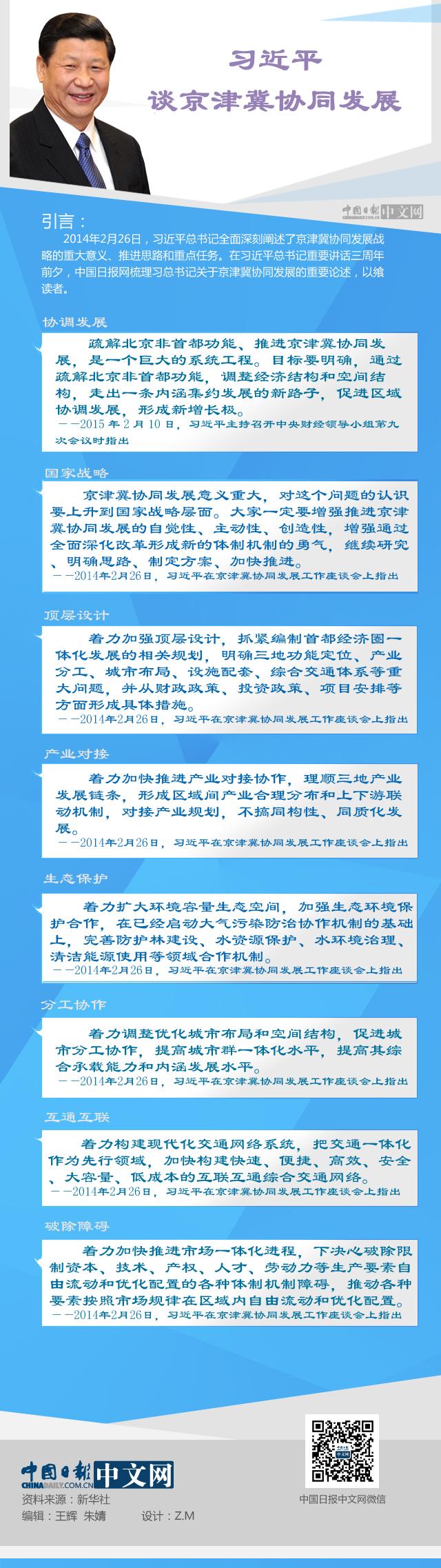 习近平谈京津冀协同发展
