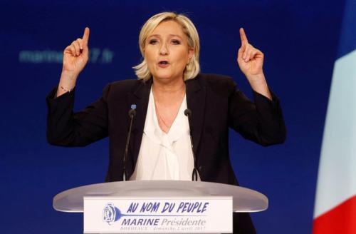 法国总统候选人勒庞。