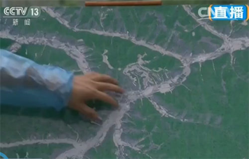 高景卫星上拍摄的南泥湾