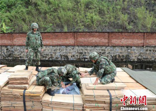 云南天保口岸查获并销毁26吨走私冻品案值50余万元