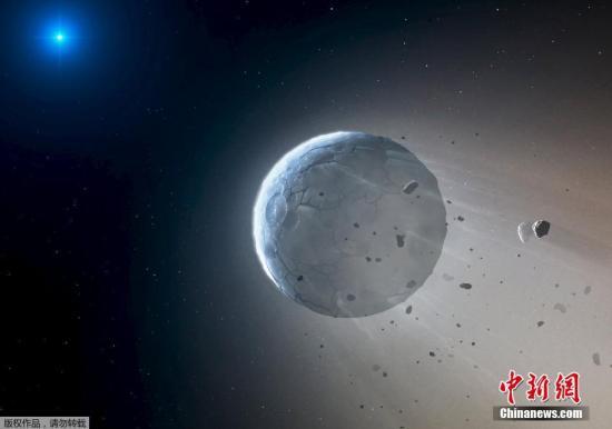 科学家们研究了室女座中的白矮星WD 1145 017,它距离地球约571光年。他们发现可能多有6个或更多的小型岩石天体正围绕着该白矮星运动,并拖着由尘埃组成的尾巴,这表明了这些岩石天体正在逐渐解体。研究者估计,每秒钟有800万千克的物质受到白矮星的巨大热量烘烤而蒸发。