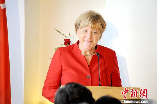 资料图:德国总理默克尔。<a target='_blank' href='http://www.chinanews.com/'><p class=