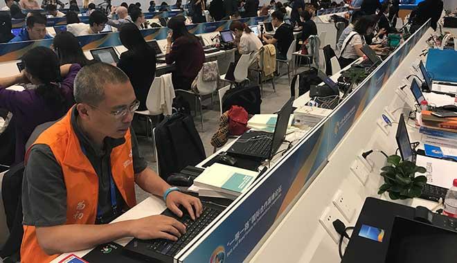 曲晓松参加一带一路新闻中心通信保障