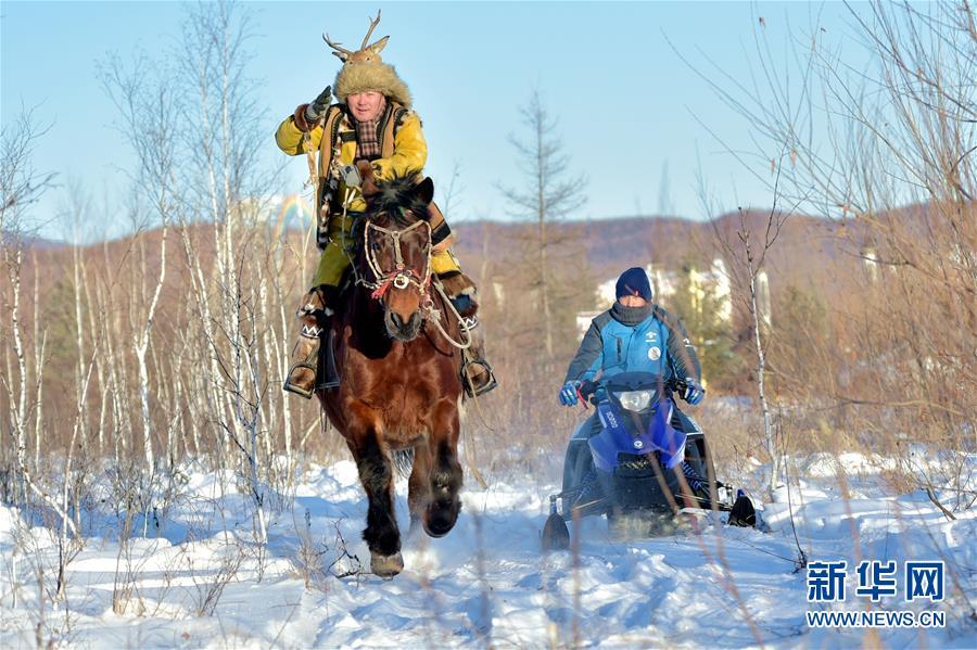 """#(文化)(3)内蒙古:第四届鄂伦春冰雪""""伊萨仁""""开幕"""