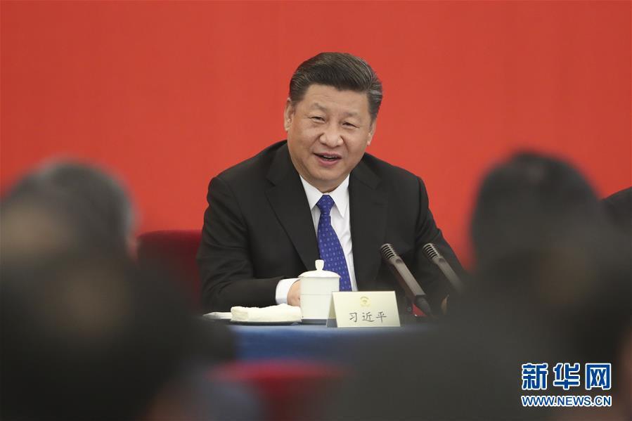 (两会)(2)习近平看望参加政协会议的民盟致公党无党派人士侨联界委员