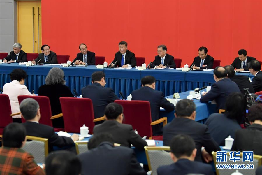(两会)(3)习近平看望参加政协会议的民盟致公党无党派人士侨联界委员