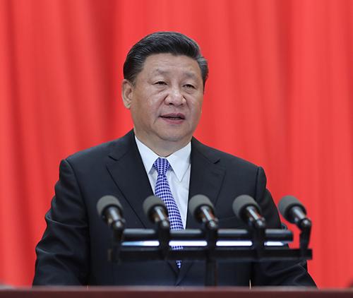 5月4日,紀念馬克思誕辰200周年大會在北京人民大會堂隆重舉行。中共中央總書記、國家主席、中央軍委主席習近平在大會上發表重要講話。新華社記者 鞠鵬 攝
