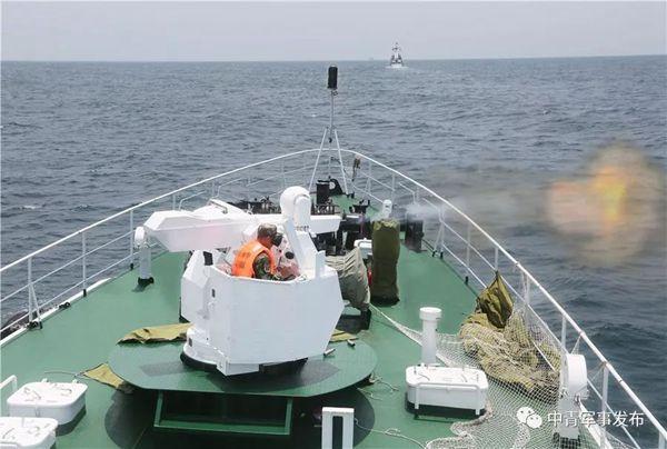 破浪出击,枪炮齐发!直击广东海警海上射击现场