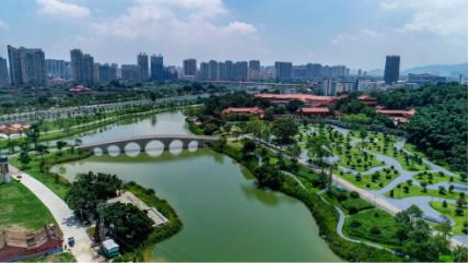 高空俯瞰南山文化生态园