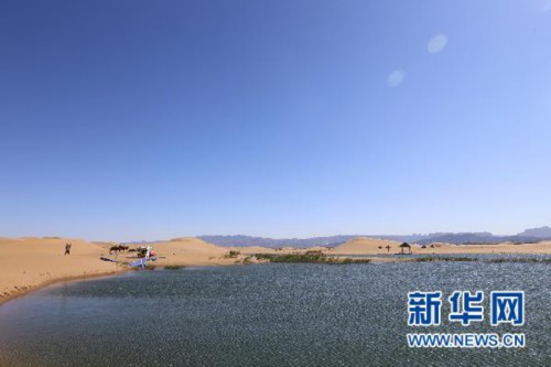 乌海湖水利风景区.(新华网 曹桢摄)
