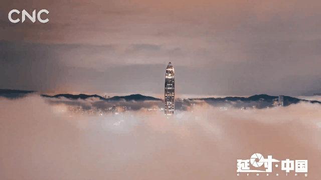 ▲ 延时摄影看云上深圳。图片来源:CNC视频