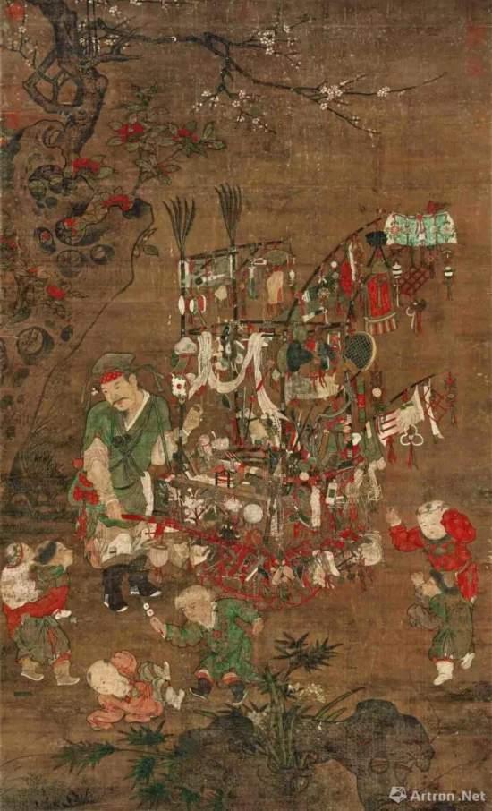 传苏汉臣《货郎图》,北宋